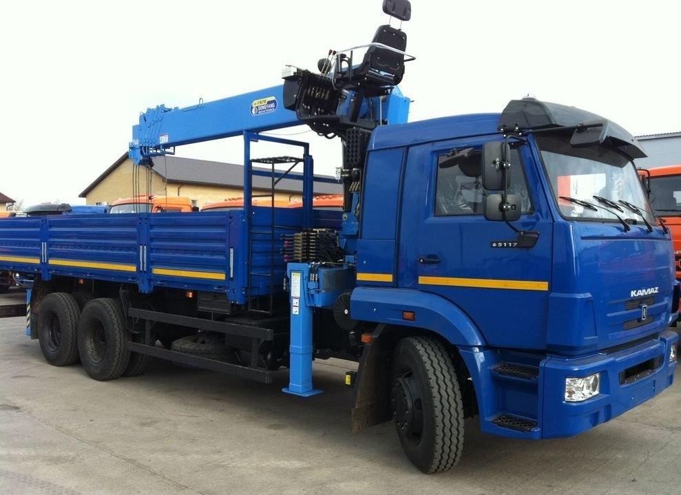 Аренда крана-манипулятора «Kamaz 65117» (15 тонн)